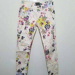 Ted Baker Summer Bloom Floral Jeans Pants size 26